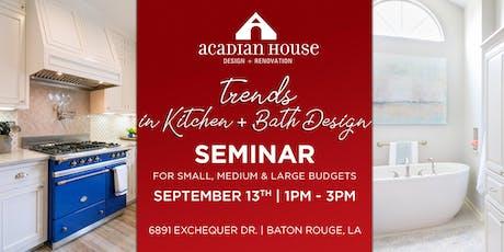 Trends in Kitchen + Bath Design tickets