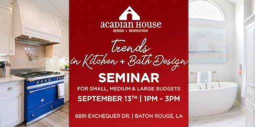 Trends in Kitchen + Bath Design