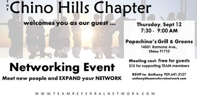 Chino Hills Chapter Invitation Day