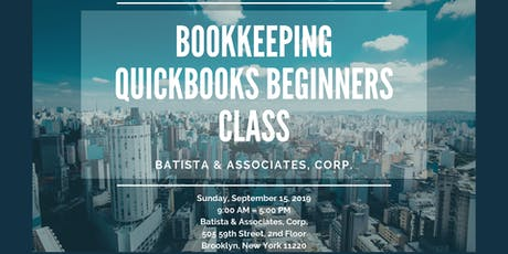 Bookkeeping and Quickbooks for Beginners tickets