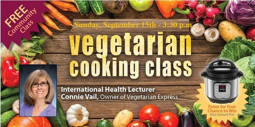 FREE Vegetarian Cooking Class (One Instant Pot Giveaway)