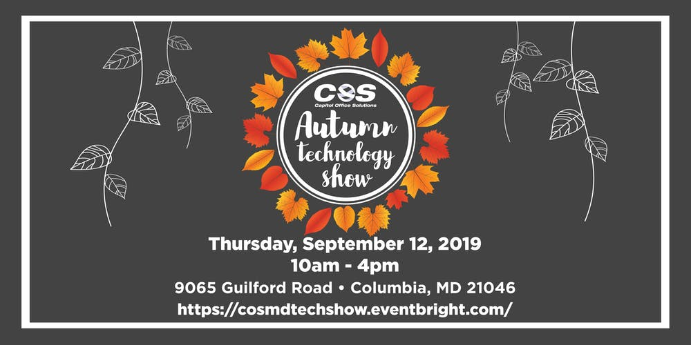 COS MD TECHNOLOGY SHOW Tickets, Thu, Sep 12, 2019 at 10:00