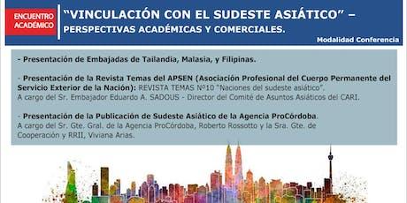 Encuentro Académico con Embajadas del Sudeste Asiático entradas