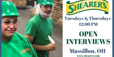 Interview with Shearer's Snacks - OPEN INTERVIEWS in Massillon, OH
