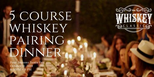 **EXCLUSIVE** 5 Course Whiskey Pairing Dinner