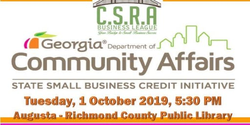 CSRA Business League State Small Business Credit Initiative (SSBCI) Seminar
