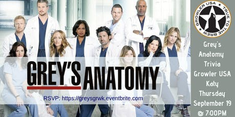 Grey's Anatomy Trivia at Growler USA Katy tickets