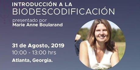 Biodescodificación por Marie Anne Boularand tickets