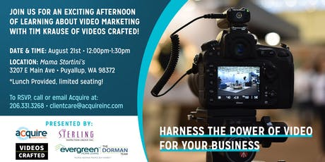 Harness the Power of Video for Your Business! tickets