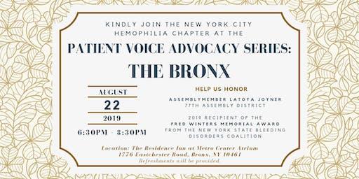 Patient Voice Advocacy Series: The Bronx