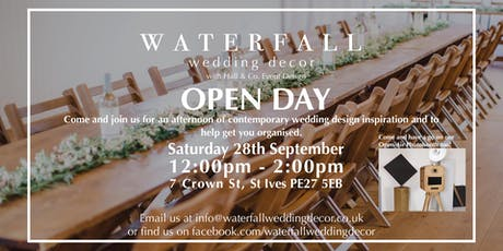 Waterfall Wedding Decor (with Hall and Co Event Design) - Wedding Open Day tickets