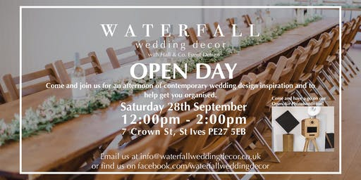 Waterfall Wedding Decor (with Hall and Co Event Design) - Wedding Open Day