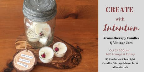 Tea Light Candles + Vintage Mason Jar tickets