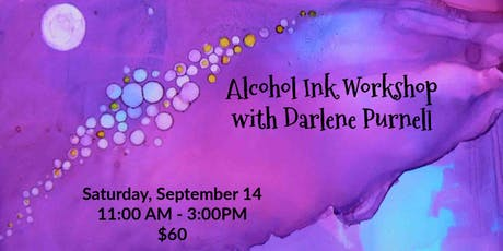 Alcohol Ink Workshop with Darlene tickets
