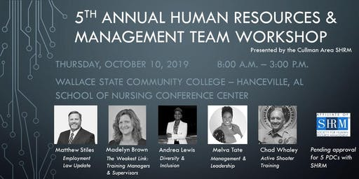 5th Annual Human Resources & Management Team Workshop