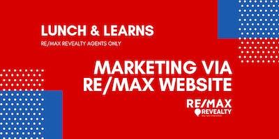 Marketing via RE/MAX Website