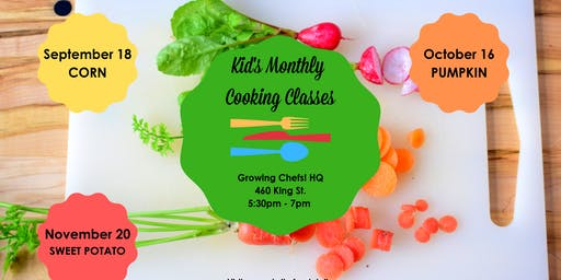 Kid's Monthly Cooking Class - Pumpkin!