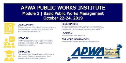 APWA - Public Works Institute - Module 3