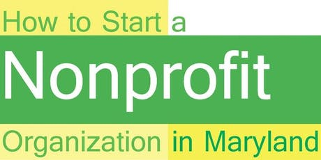 September 2019 How to Start and Maintain a Nonprofit Organization tickets