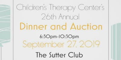 Children's Therapy Center 26th Annual Dinner & Auction