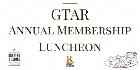GTAR September Annual Luncheon tickets