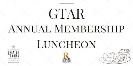 GTAR September Annual Luncheon tickets
