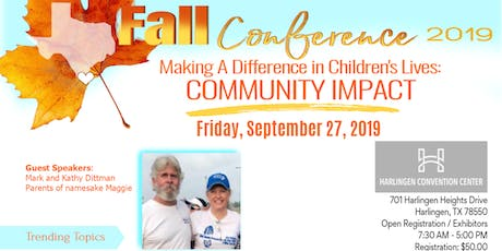 2019 Fall Conference  Making A Difference in Children's Lives; Community Impact tickets