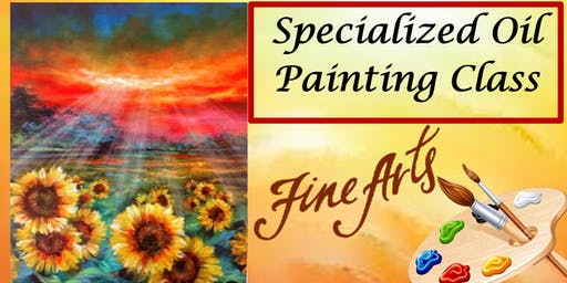 A Special Paint Night, Oil Painting Class