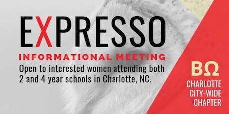 ΒΩ eXpresso: Informational Meeting tickets