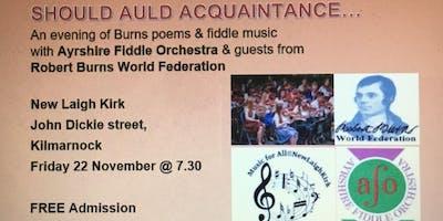 Should Auld Acquaintance ....