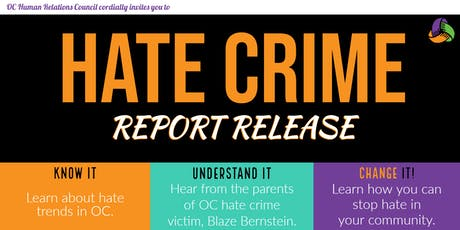 OC Human Relations presents: Annual  Hate Crime Report Release - 2018 tickets