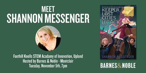 Meet Shannon Messenger as she discusses LEGACY - Upland, CA