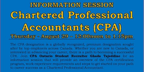 Information Session - Chartered Professional Accountants (CPA) tickets
