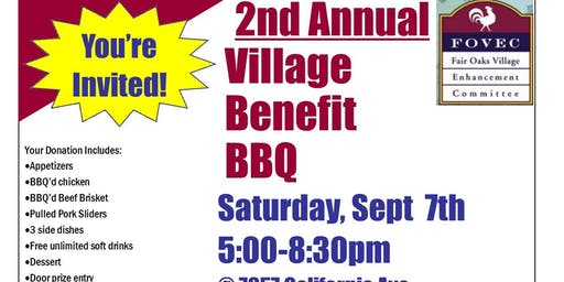 2nd Annual Village Benefit BBQ