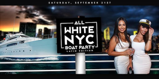 The All White Affair Boat Party Yacht Cruise NYC: Last Saturday of Summer