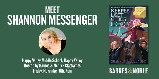 Meet Shannon Messenger as she discusses LEGACY - Happy Valley, OR