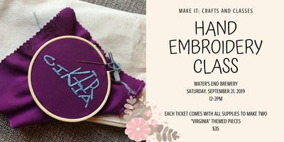 Hand Embroidery at Water's End