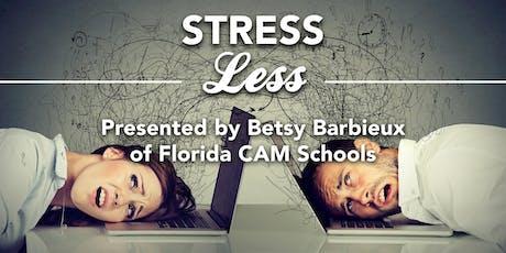 Monthly Meeting: Breakfast - Stress Less CEU tickets