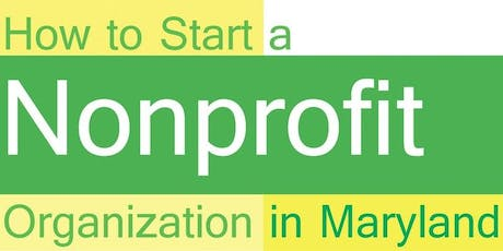 October 2019 How to Start and Maintain a Nonprofit Organization tickets