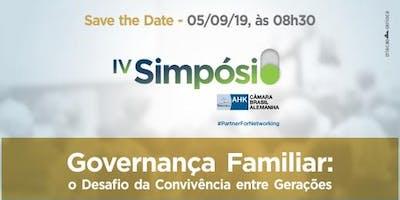 IV Simpósio Governança Familiar: Desafio da Convivência entre Gerações