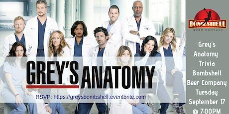 Grey's Anatomy Trivia @ Bombshell Beer Company tickets