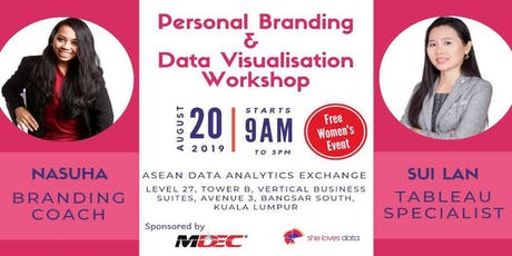 SheLovesData Kuala Lumpur:  FREE Data Visualization and Personal Branding workshop for women tickets