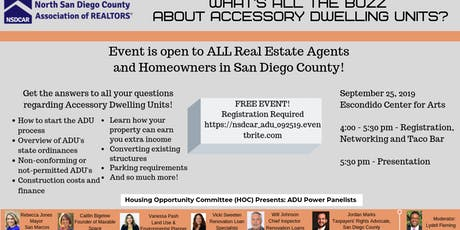 Accessory Dwelling Units - What's all the Buzz? tickets
