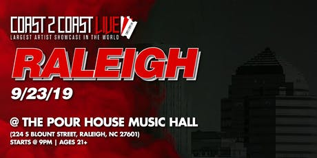 Coast 2 Coast LIVE Artist Showcase Raleigh, NC - $50K Grand Prize tickets