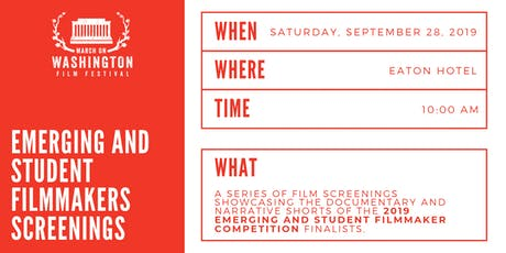 Emerging and Student Filmmakers screenings tickets