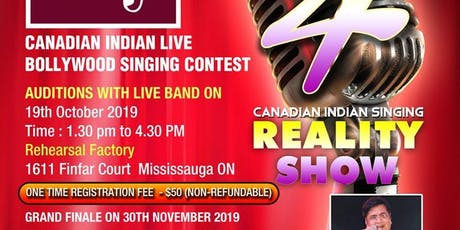 AUDITIONS  -   MERE SUNG GAA SEASON 4 BOLLYWOOD LIVE SINGING CONTEST TORONTO tickets