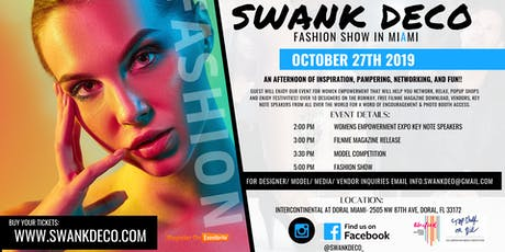 Get Involved: Swank Deco Fashion Show Miami tickets