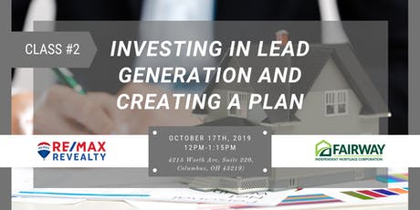 Investing in Lead Generation and Creating a Plan tickets