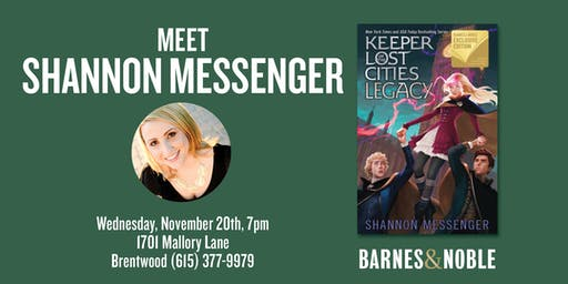 Meet Shannon Messenger as she discusses LEGACY at B&N- Brentwood, TN