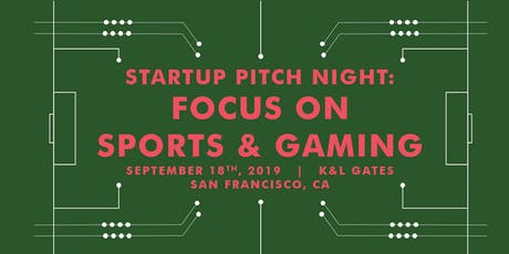 Startup Pitch Night: Focus on Sports and Gaming tickets